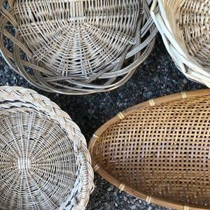 Basket Wall Boho Decor Wicker Rattan Bohemian
